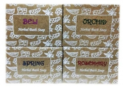 Herbal Soap - Pack of 4 (Rosemary, Spring, Orchid,Beli)