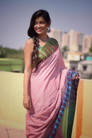 Mul Cotton Saree with Border Work