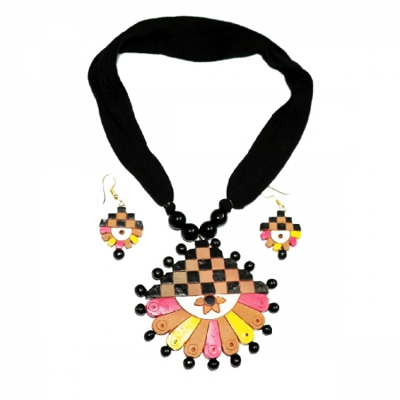 Terracotta Ethnic Jewellery Necklace Set for women and girls