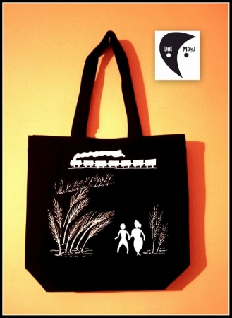 Pather Panchali Handpainted Side bag