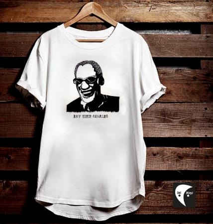 Ray Charles Robinson Handpainted T-shirt