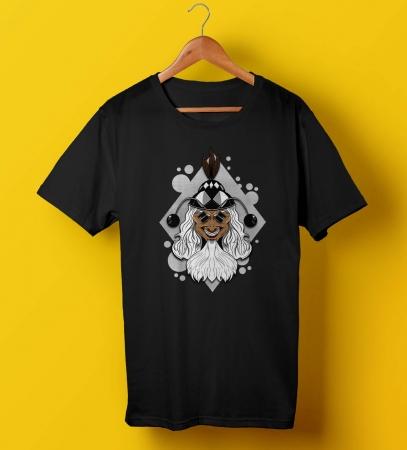 Barfi Gupi Gayen Bagha Bayen The Wizard Unisex Black Tee Shirt
