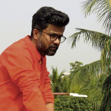 DhiMayu Men's Khadi Long Kurta Rust Red