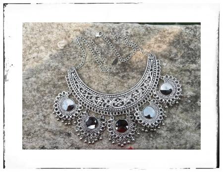 Oxidized mirror necklace jewellery