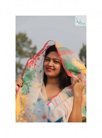 Dhakai Jamdani Scrarves (Orna)