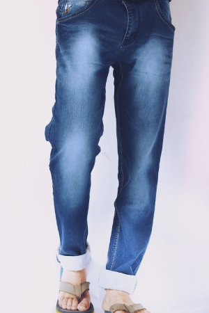 Denim Blue Faded Lycra Sparky Jeans