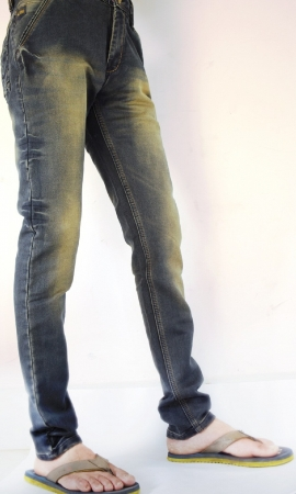 Black Selvedge Faded Lycra Sparky Jeans