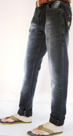 Black Patch Faded Lycra Sparky Jeans
