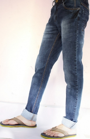 Denim Blue Patch Faded Lycra Sparky Jeans
