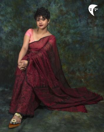 Summer Wine handloom cotton saree
