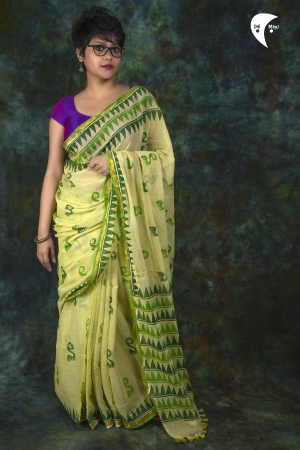 Ivy  maimal cotton fabric saree