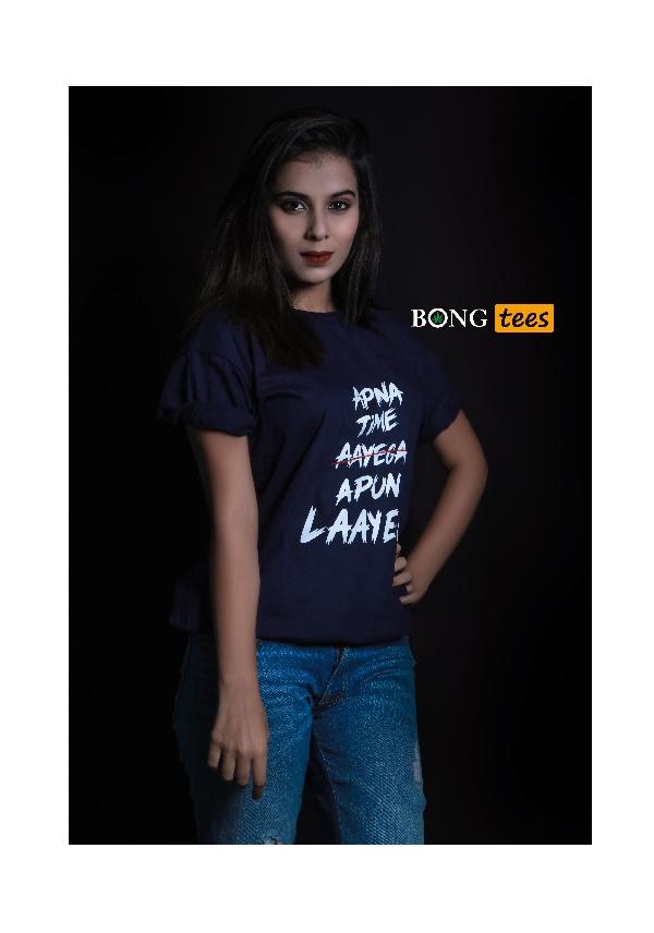 Apna time apun layega captioned t-shirt