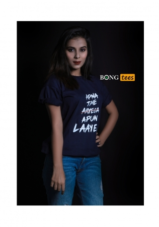 Apna time apun layega captioned t-shirt