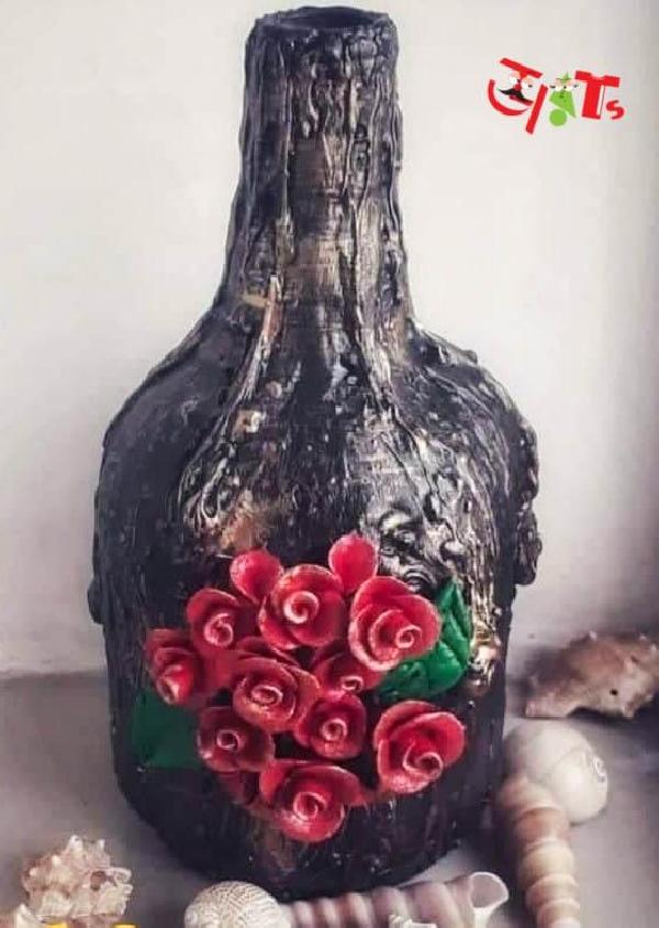 Texture Paste Bottle Art