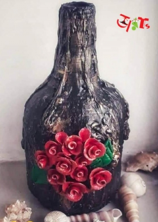 Texture Paste Bottle Art