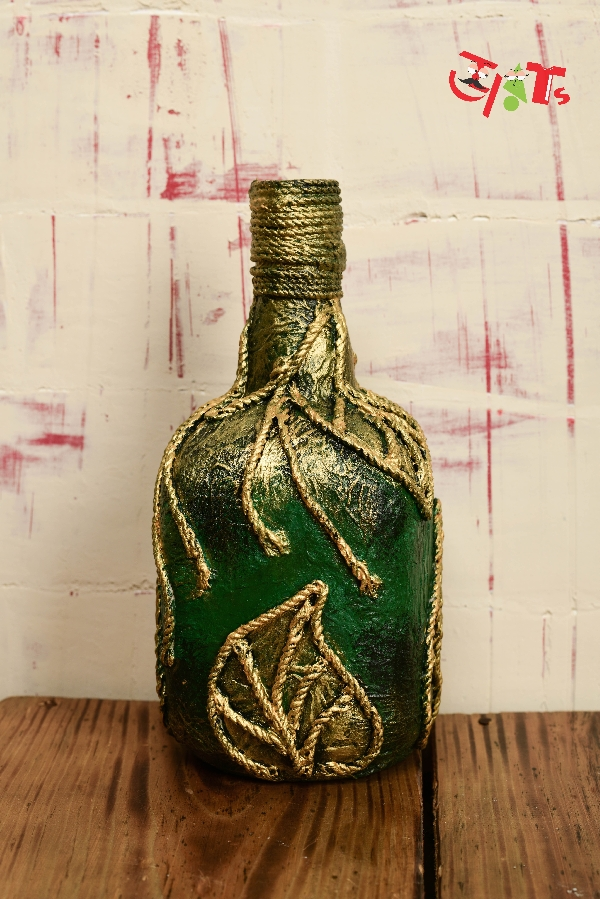 Jute Rope Bottle Art