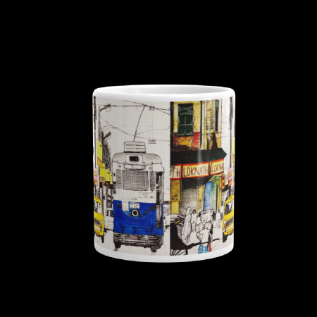 Tram Taxi Sketch Coffee Mug