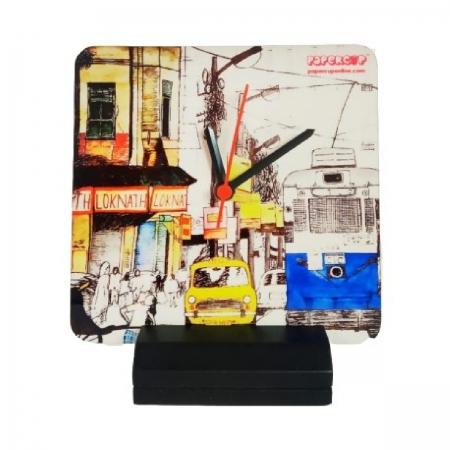 Kolkata Calcutta Tram Taxi Clock