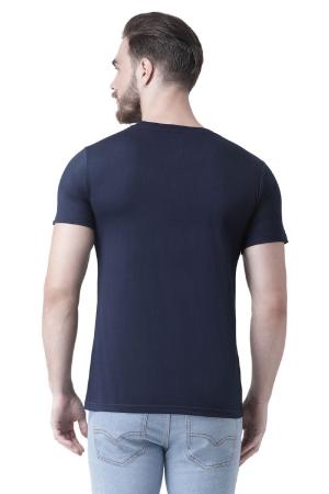 Aise Chalogi Toh Kaise Chalega - Printed Men Round Neck Dark Blue T-Shirt